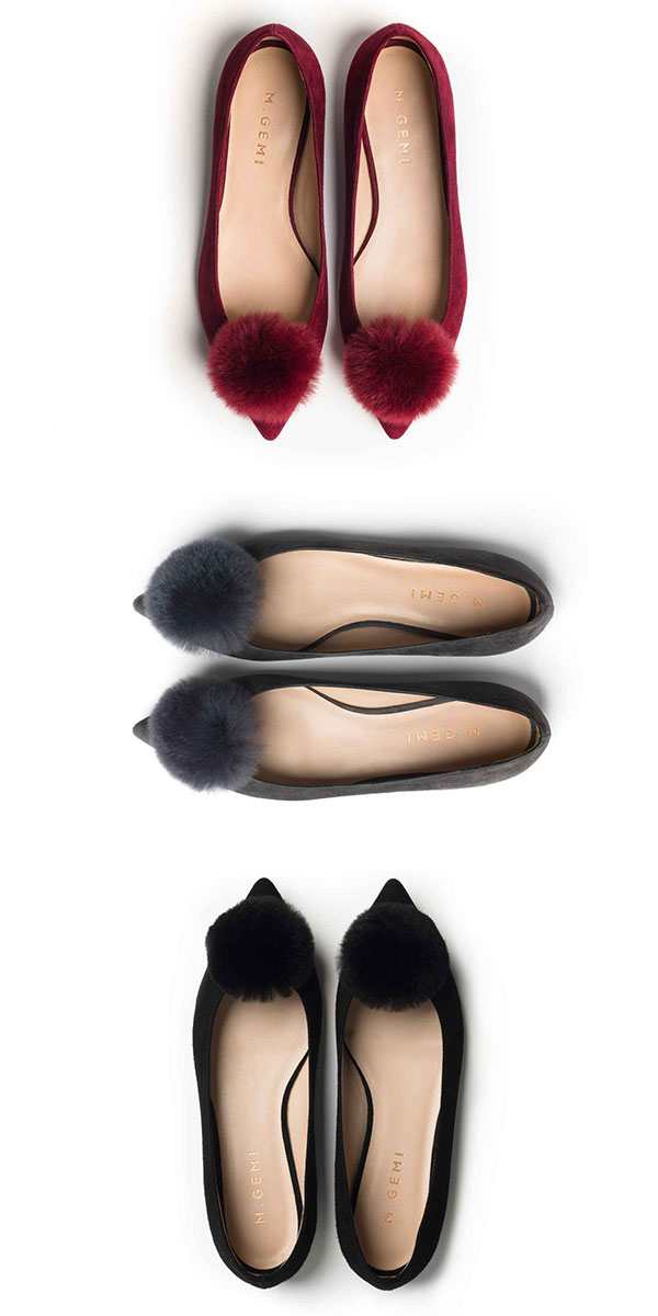 The cutest pom-pom flats are featured on Ridgely's Radar