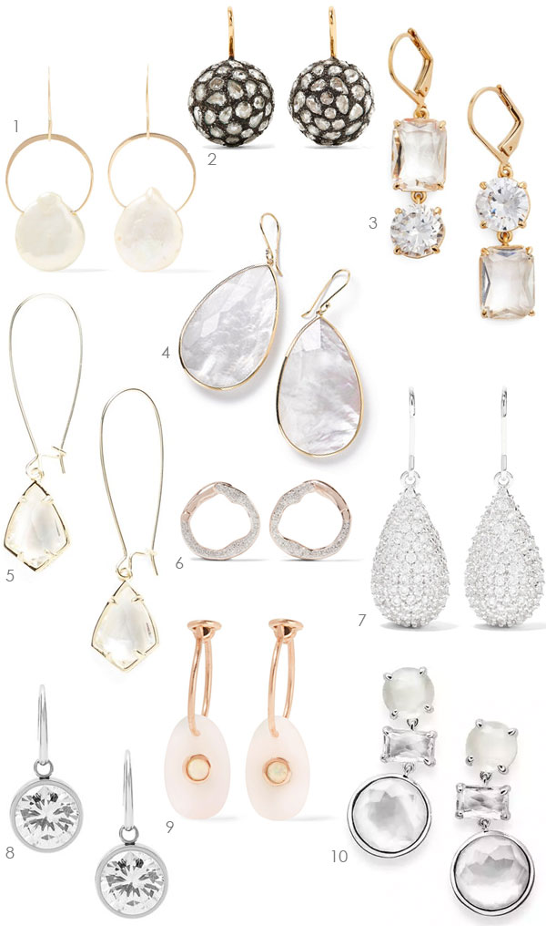 Ridgely Brode is looking for a little sparkle to add to her ears and shares 10 drop earrings that might work on her blog Ridgely's Radar.