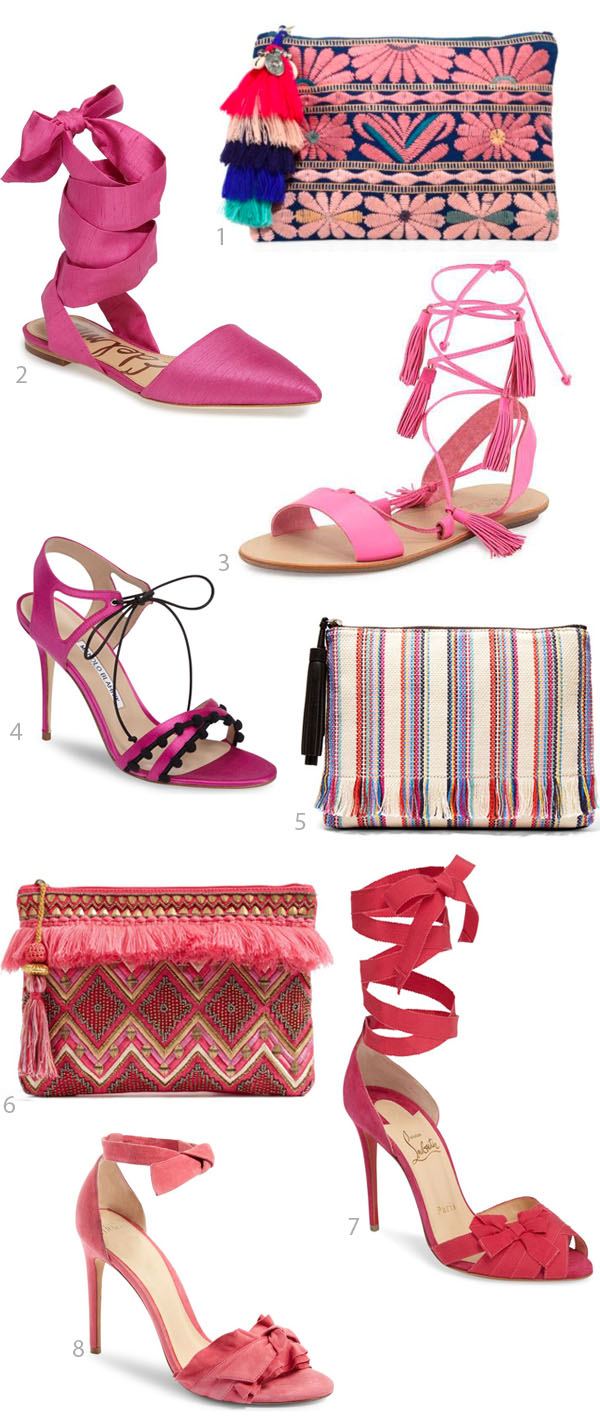 Nothing is more fun than Pink and Ridgely Bride is looking for accessories in the pretty shade  on her blog Ridgely's Radar.