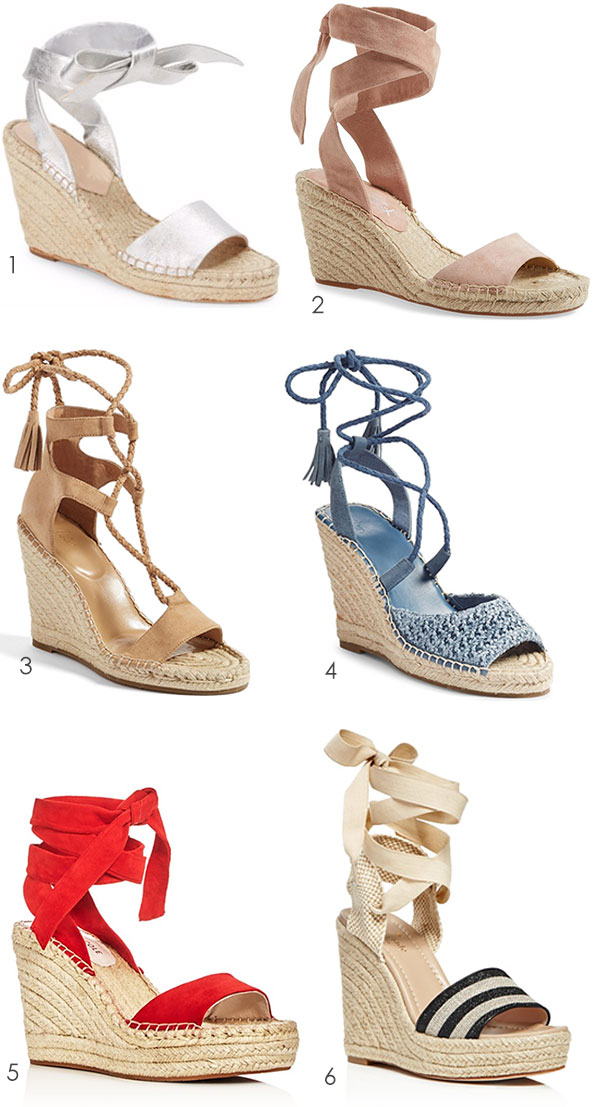 Every gal needs a great looking wedge espadrille! Ridgely Brode finds many styles to chose from on her blog Ridgely's Radar.