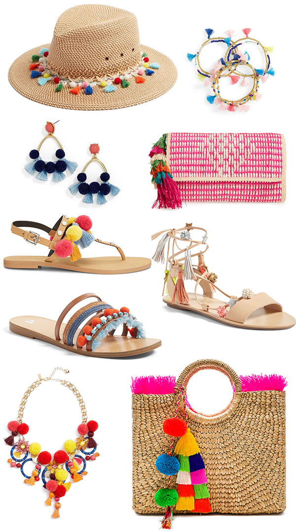 It might be raining outside but on Ridgely's Radar it is raining pompoms and tassels, from shoes, hats to jewelry. What is your favorite?