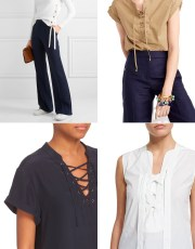 Ridgely Brode picks several lace up tops for her blog, Ridgely