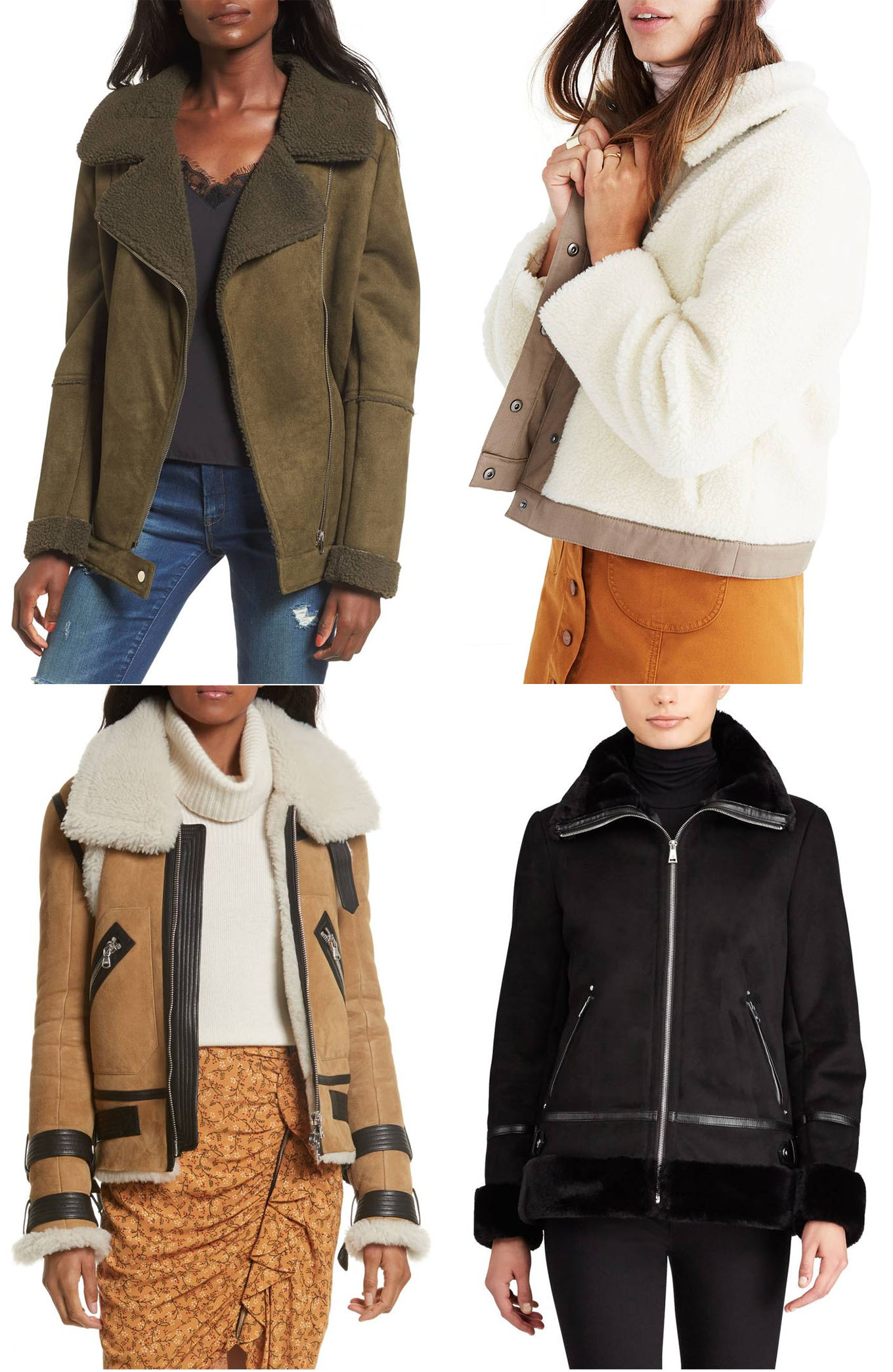 Ridgely Brode is looking for a Shearling Jacket to wear with a dress or jeans, something that is cozy and chic on her blog, Ridgely's Radar.
