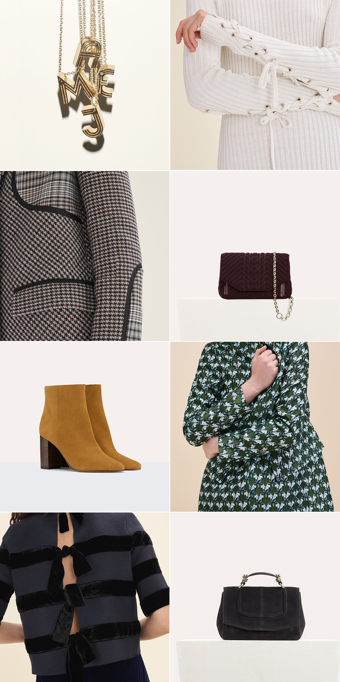Ridgely Brode takes a look at what's new at Maje after spying a great plaid dress and shares her finds on her blog, Ridgely's Radar.