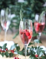 Celebrate the season with this festive and delicious Cranberry Rosemary Champagne Cocktail that Ridgely Brode serves up on her blog Ridgely