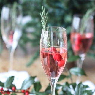 Cranberry Rosemary Champagne Cocktail