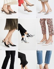 Ridgely Brode finds lots of Kitten Heels that look great with dresses, skirts and even the very trendy frayed jeans on her blog, Ridgely