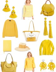 Ridgely Brode wants to add a pop of yellow to her primarily blue wardrobe and looks for things to share on her blog Ridgely