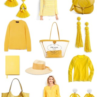 Ridgely Brode wants to add a pop of yellow to her primarily blue wardrobe and looks for things to share on her blog Ridgely's Radar.