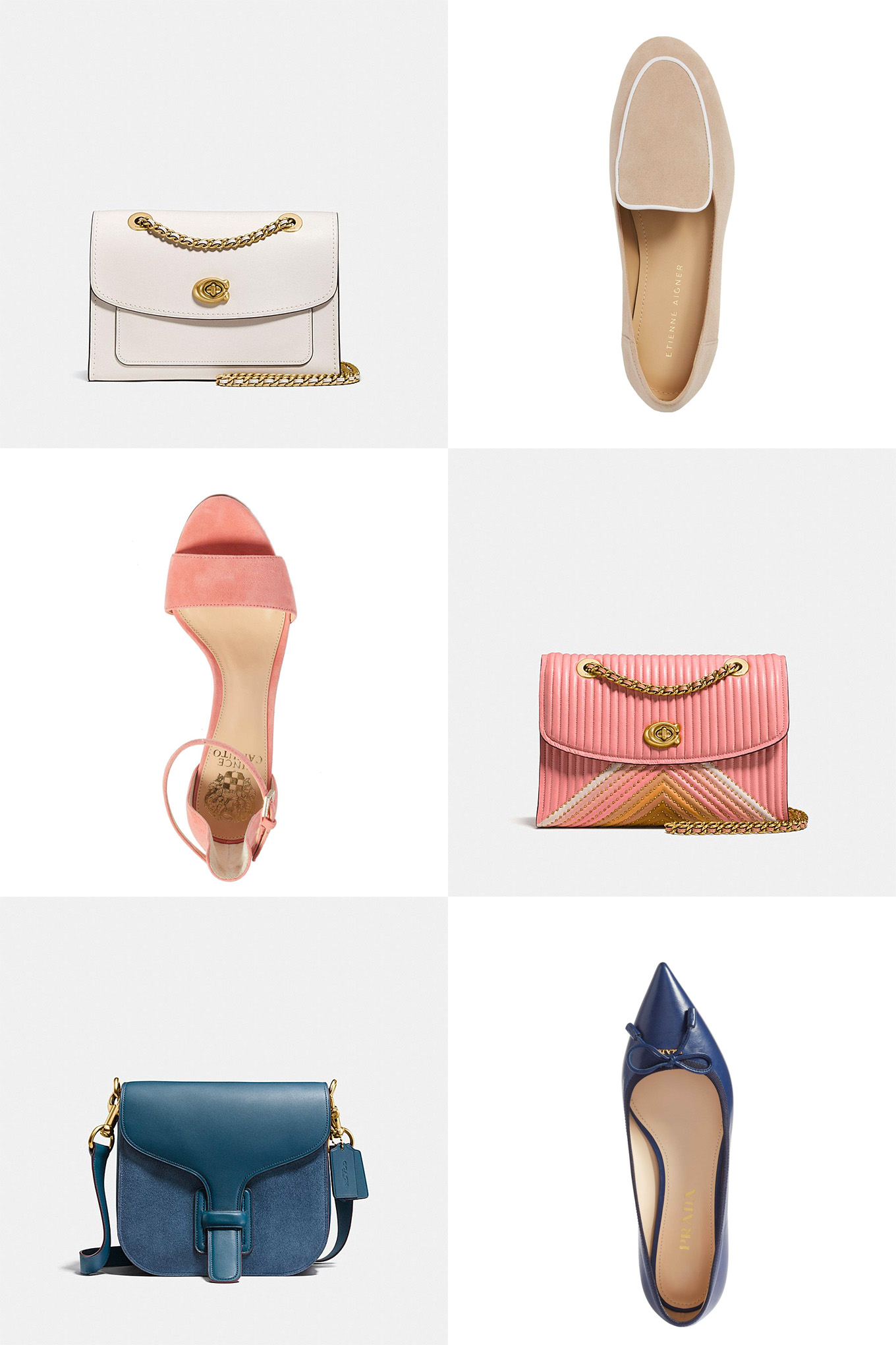 Remember when matching your shoes and your bag was a thing .. and then it wasn't? Ridgely Brode looks for matchy matchy bags and shoes on her blog, Ridgely's Radar.