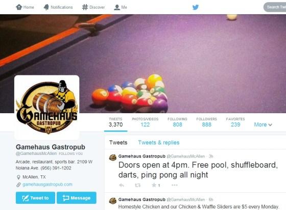 gamehaus twitter profile screengrab