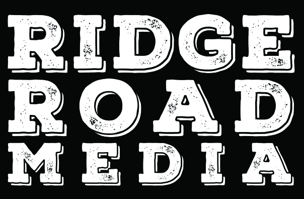 Ridge Road Media black and white logo