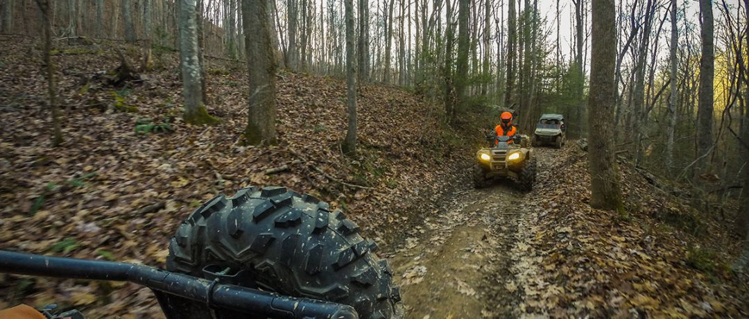 ATV on the trails