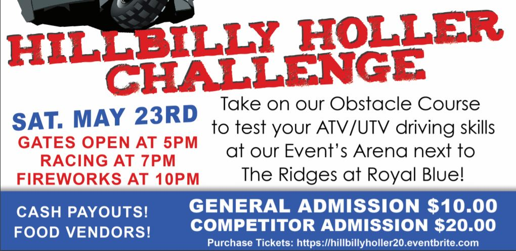 Hillbilly Holler Challenge May 23rd