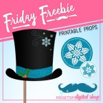 Friday Freebie: Snowman Printable Props