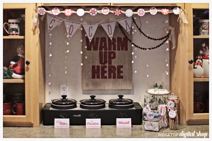 Ridgetop Digital Shop | Friday Freebie | Hot Drinks Bar Printables | Coffee