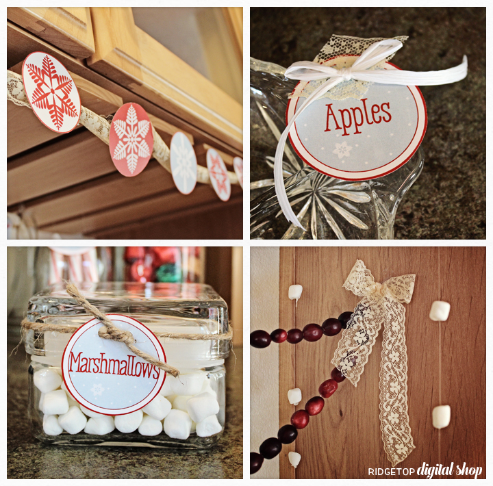 Ridgetop Digital Shop | Friday Freebie | Hot Drinks Bar Printables | Apple Cider