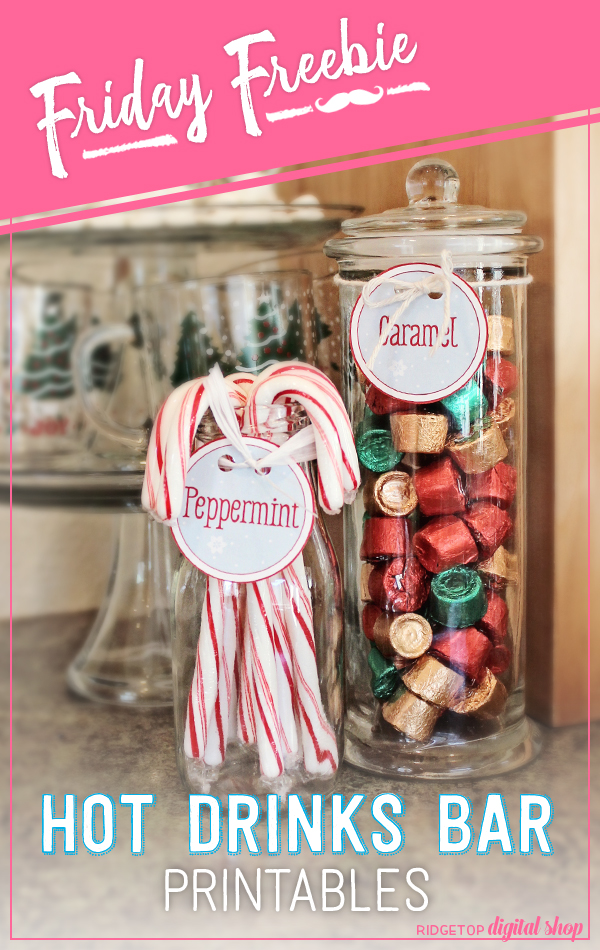 Ridgetop Digital Shop | Friday Freebie | Hot Drinks Bar Printables