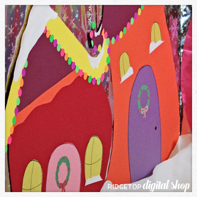 Ridgetop Digital Shop | DIY Whoville Photo Booth Backdrop | The Grinch