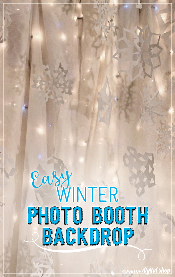 Ridgetop Digital Shop | Easy Winter Photo Booth Backdrop