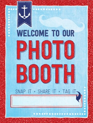 Nautical Photo Booth Sign Free Printable | Ridgetop Digital Shop