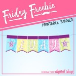 Friday Freebie: Luau Printable Banner