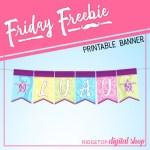 Luau Free Printable Banner