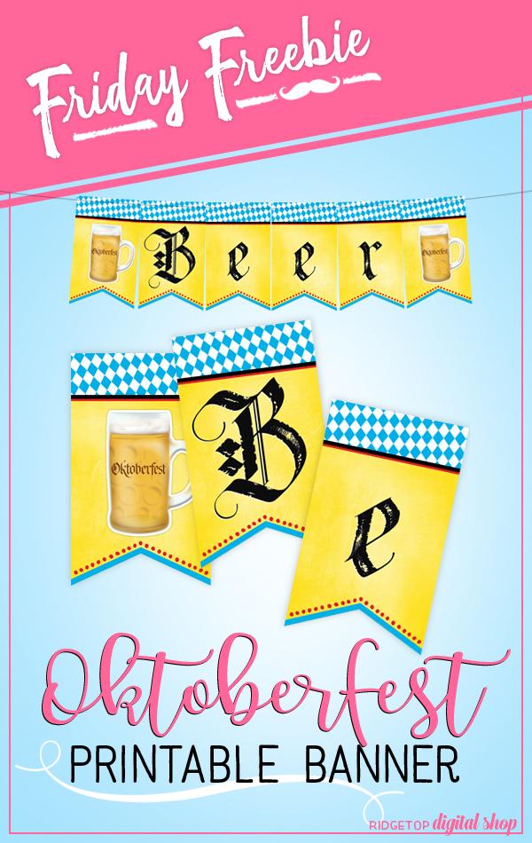 Ridgetop Digital Shop | Friday Freebie | Oktoberfest Printable Banner