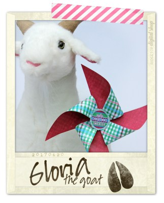 Ridgetop Digital Shop | Friday Freebie | Ugly Sweater Free Printable Pinwheel | Gloria the Goat