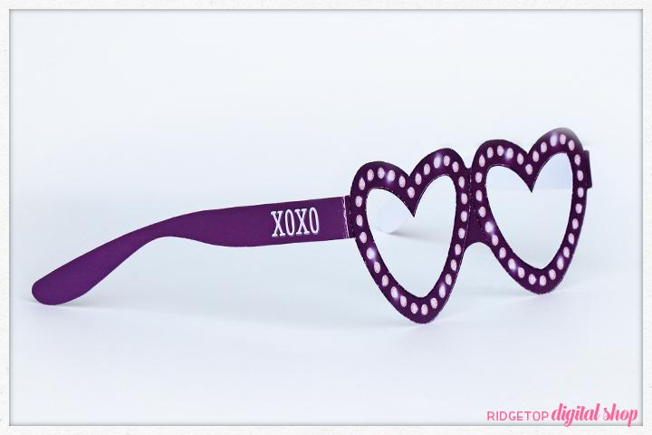 Ridgetop Digital Shop   Friday Freebie   Valentine Glasses   Printable