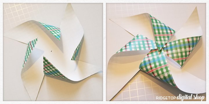 Ridgetop Digital Shop | How to Assemble Printable Pinwheels