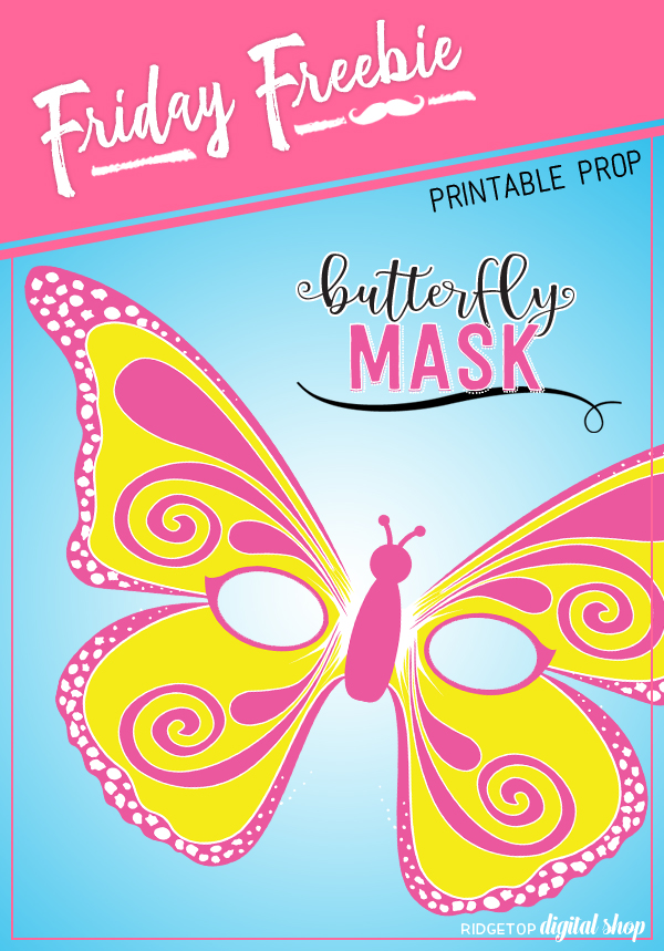 Butterfly Mask Free Printable   Kids Party   Butterfly Printable   Insects are Awesome   Ridgetop Digital Shop