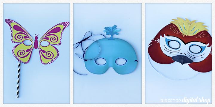 Ridgetop Digital Shop   Friday Freebie   Butterfly Mask Free Printable