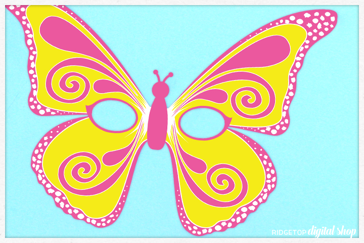 Butterfly Mask Free Printable | Ridgetop Digital Shop
