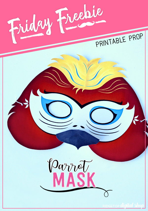 Ridgetop Digital Shop | Friday Freebie | Parrot Mask Free Printable