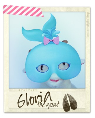Ridgetop Digital Shop | Friday Freebie | Whale Mask Free Printable | Gloria the Goat