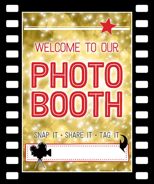 Ridgetop Digital Shop | Friday Freebie | Printable Photo Booth Sign | Movie Night