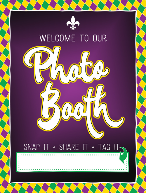 Ridgetop Digital Shop  Friday Freebie   Photo Booth Sign   Mardi Gras Printable
