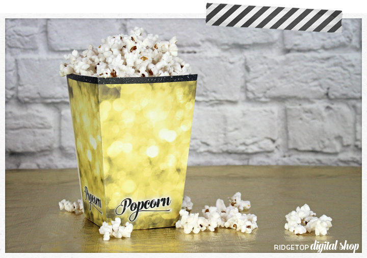 Popcorn Box Printable | Movie Night | Oscar Party | Movie Party Printable | Snapshot | Ridgetop Digital Shop