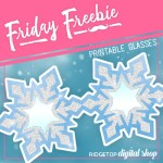 Friday Freebie: Snowflake Glasses