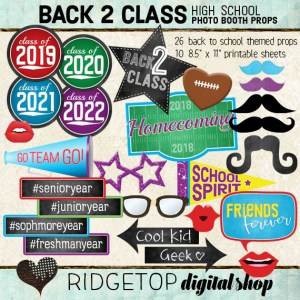 Ridgetop Digital Shop | Back to School - High School Photo Props - Homecoming Printable