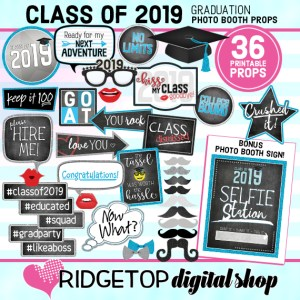Class of 2019 Photo Props | Graduation Photo Booth