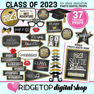 Ridgetop Digital Shop | 8th Grade Graduation Photo Booth Props