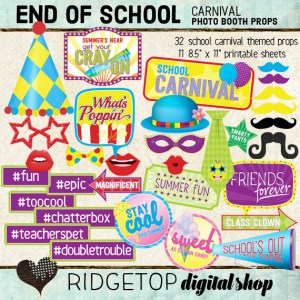 Ridgetop Digital Shop | School Carnival Photo Props | End of Year