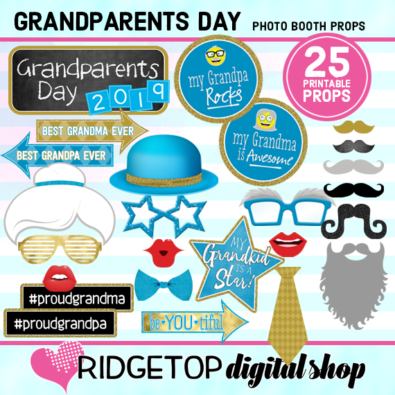 Ridgetop Digital Shop | Grandparents Day Photo Props
