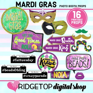 Ridgetop Digital Shop   Mardi Gras Photo Props   Mardi Gras Photo Booth