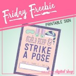 Friday Freebie: Pajamas and Pancakes Photo Booth Sign