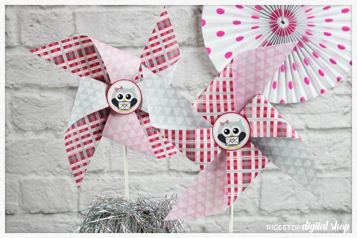 Ridgetop Digital Shop | Friday Freebie: Valentine Pinwheel | Free Printable
