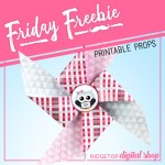 Friday Freebie: Valentine Pinwheel