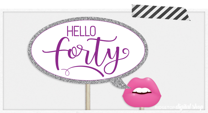 Ridgetop Digital Shop | Birthday Photo Booth Props